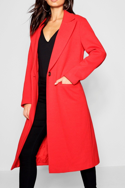 Abrigo Abrigo Abrigo entallado de rojo de entallado rojo sarga de sarga entallado sarga de rojo Abrigo q1Axvw