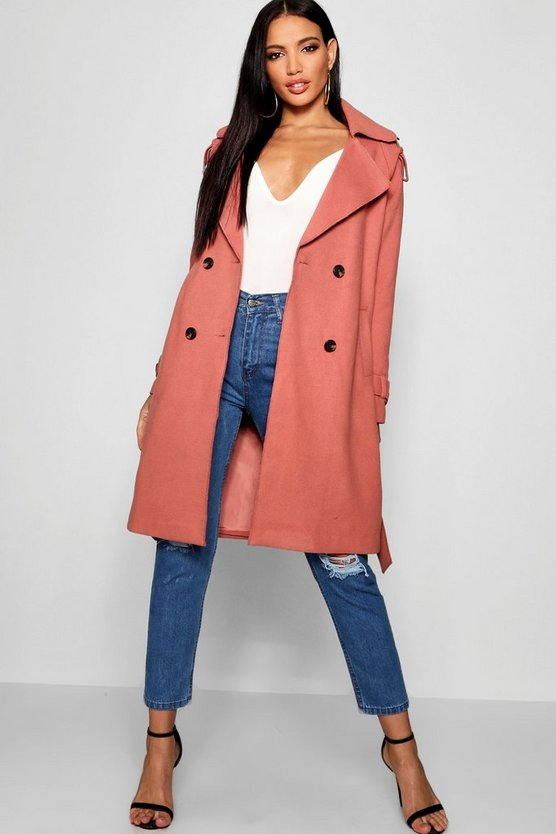 Oversized Wool Look Textured Coat