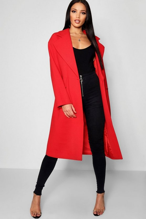 Oversized Collar Coat