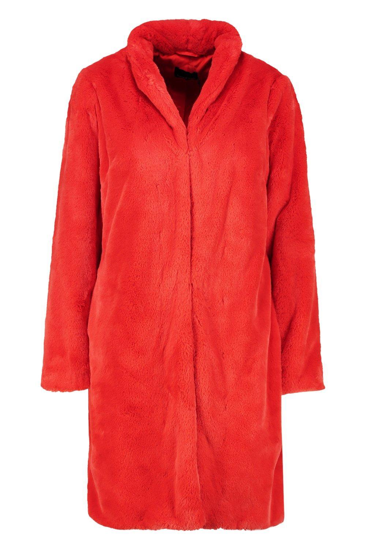 piel Abrigo piel naranja naranja de piel Abrigo Abrigo sintética sintética de de Twgqt