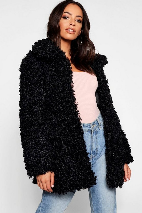 Premium Teddy Faux Fur Coat