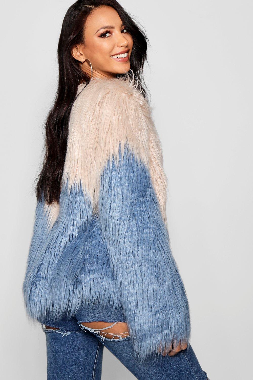 azul en tonos dos piel sintética Abrigo de 7Z0waY