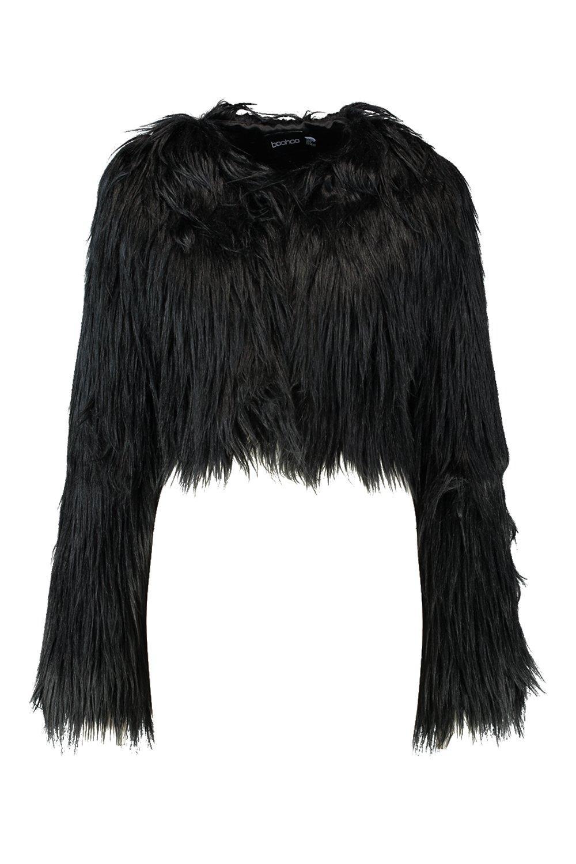 desenfadado piel sintética corto María Abrigo negro de SwO8aTq