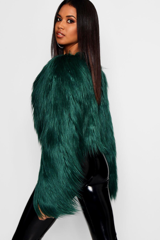 piel verde Abrigo María de corto desenfadado sintética Rxgnwq1tY