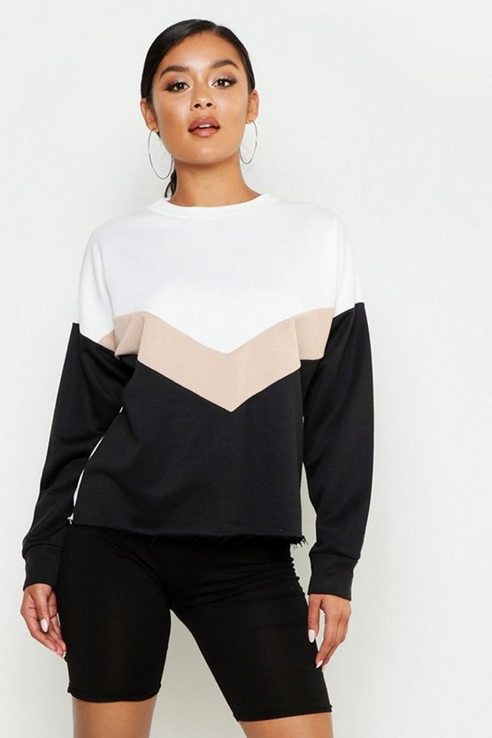 Chevron Colour Block Sweat