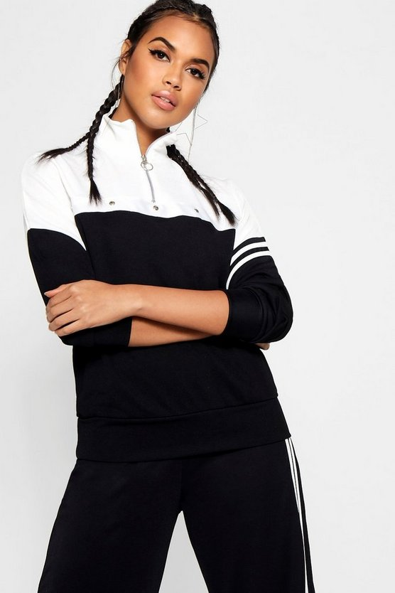 Tonal Popper Stripe Track Top