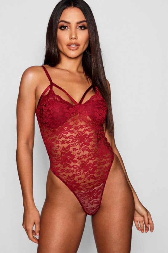 Lace Caged Panelled Bodysuit