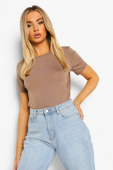 Mocha Basic T-Shirt Bodysuit