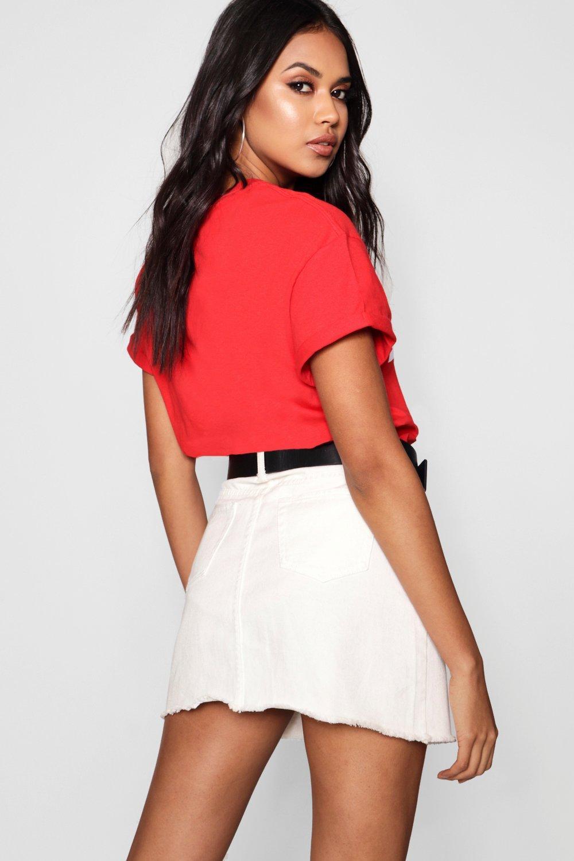 con Camiseta Camiseta rojo rojo eslogan