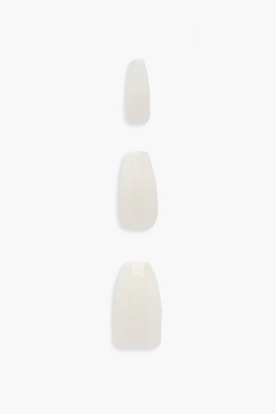 White 24 Coffin Nail Tips