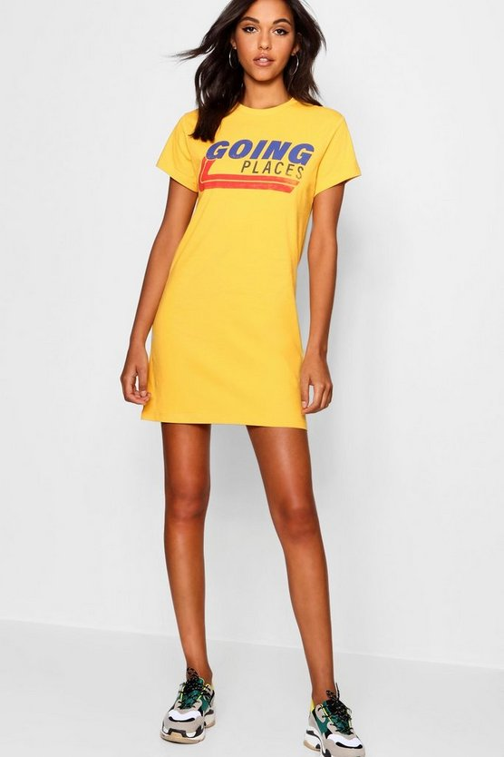 "Vestido estilo camiseta ""Going Places"""