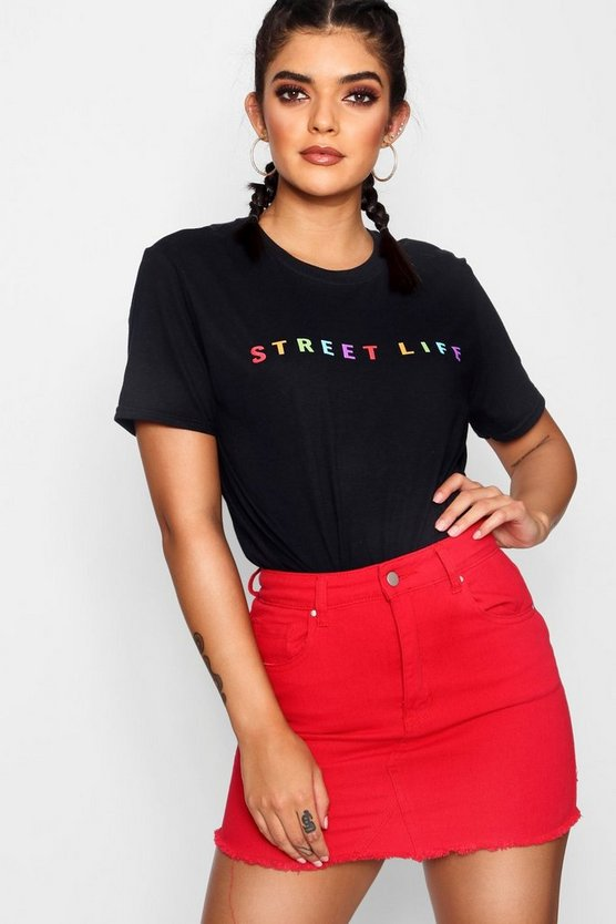 T-shirt con stampa Street Life