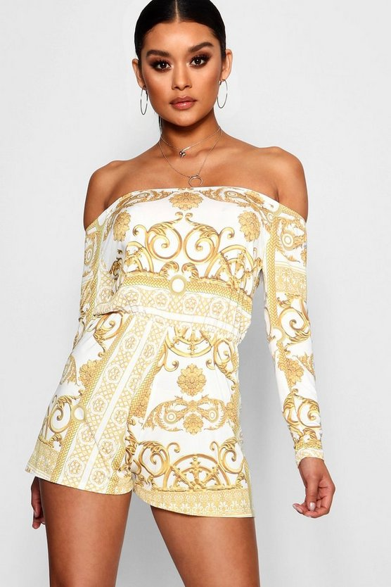 Baroque Print Playsuit