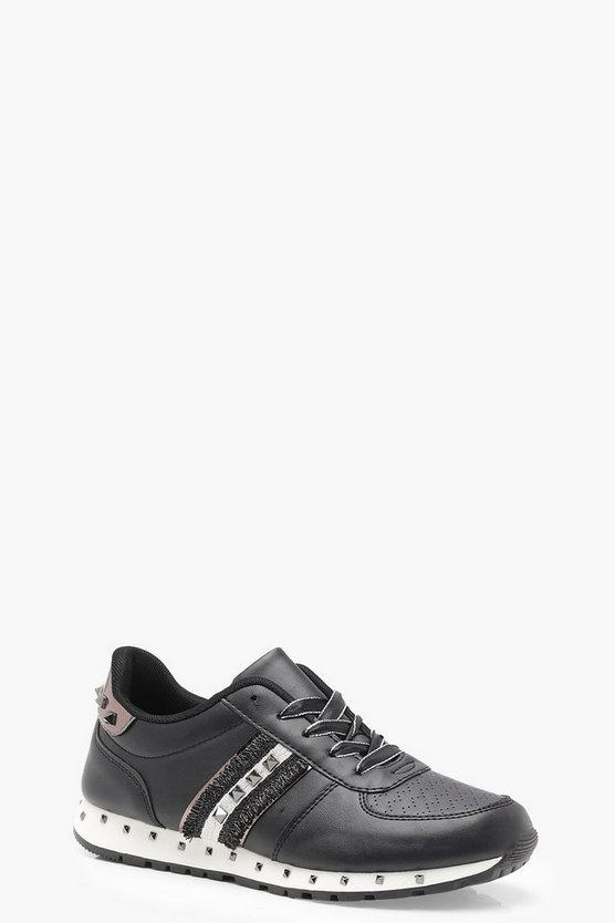 Stud Lace Up Trainers