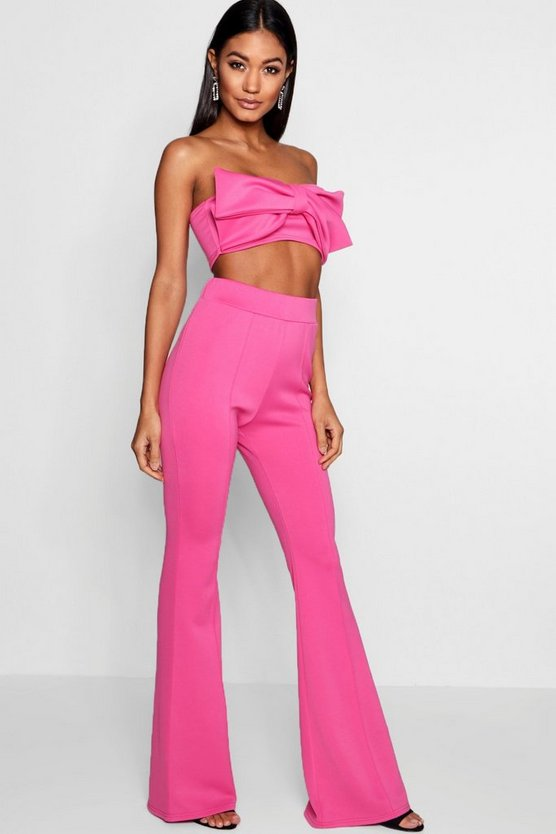 Tie Bandeau and Kick Flare Co-ord Set
