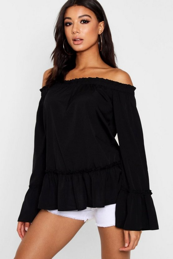 Woven Off The Shoulder Top