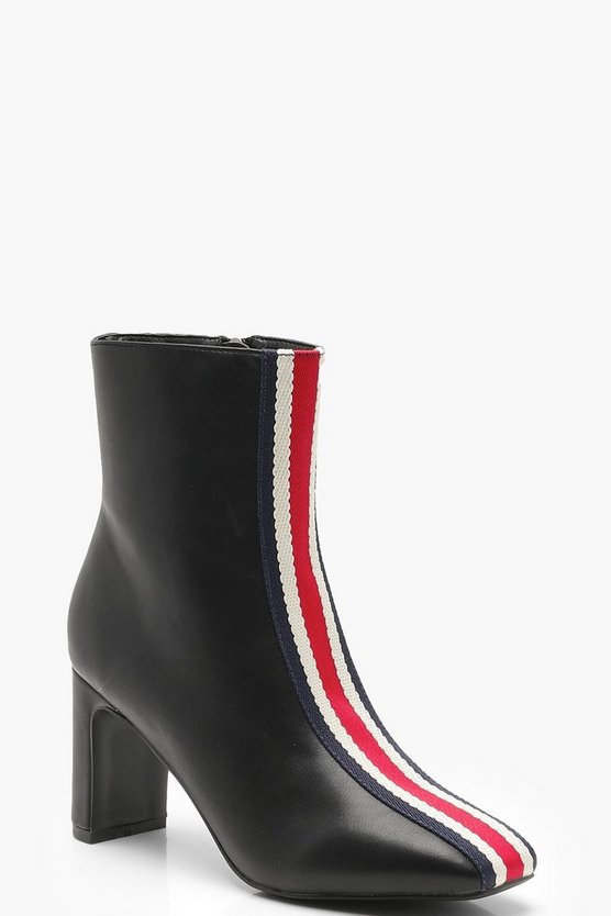 Sports Stripe Ankle Shoe Boots