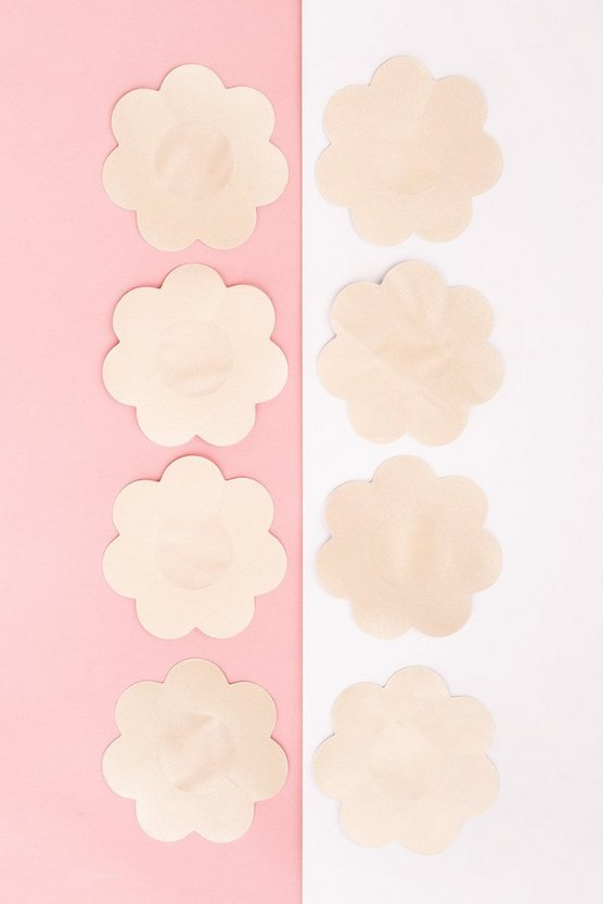Nude Satin 4pk Nipple Covers