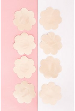 Womens Nude Satin 4pk Nipple Covers