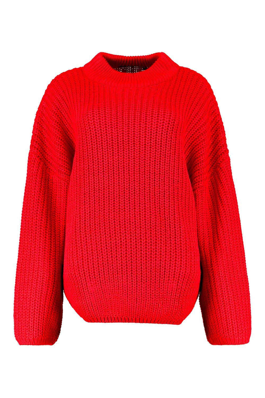 mangas Jersey escarlata extra grande acampanadas rojo con 5TrqwTxF