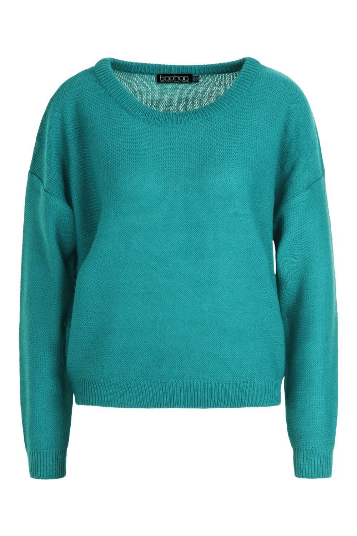 de redondo con cuello azulado corte Jersey verde cuadrado 1RwZZP