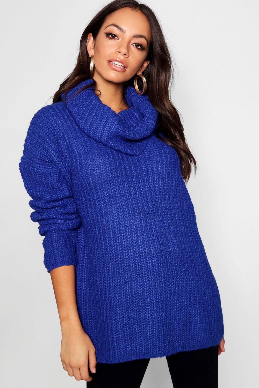 con extra grande capucha Jersey y azul cuello dPxWwnU