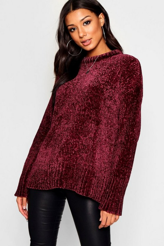 Oversized Soft Chenille Jumper