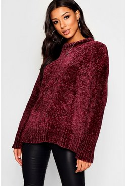 Womens Mulberry Oversized Soft Chenille Jumper
