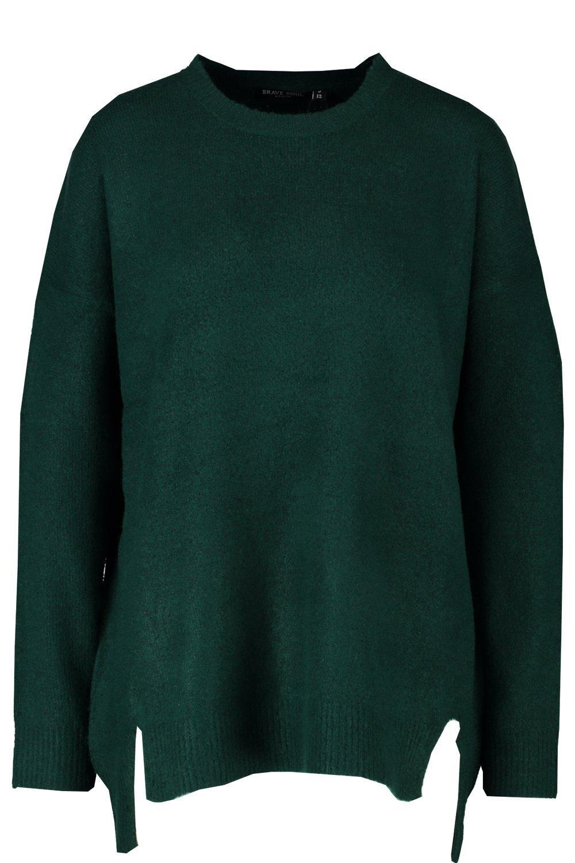 verde con dobladillo holgado por delante Jersey abierto zHPv5q