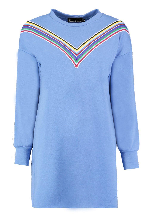 Boohoo-Vestido-estilo-sueter-a-rayas-color-arco-iris-en-forma-de-espiga-Rhiane