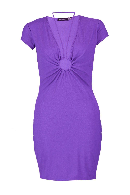 Boohoo Womens O Ring Strappy Detail Bodycon Dress | eBay