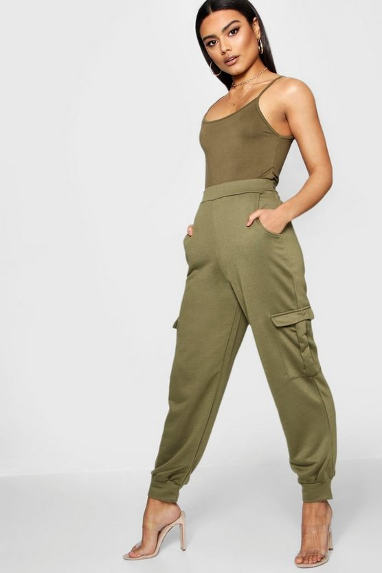 Womens Military green Cargo Utility Jogger Trouser