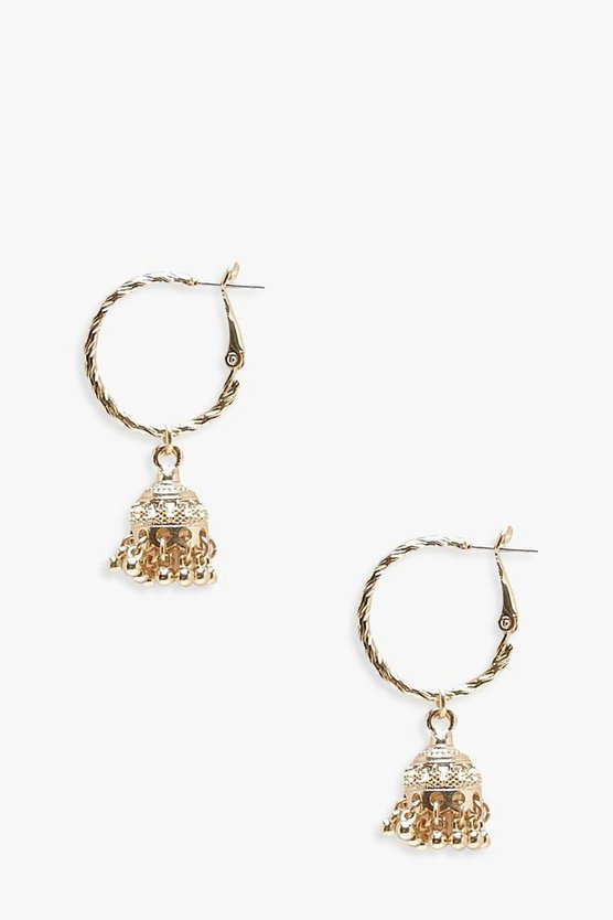 Boho Trinket Hoop Earrings
