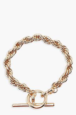 Chunky Chain T Bar Bracelet