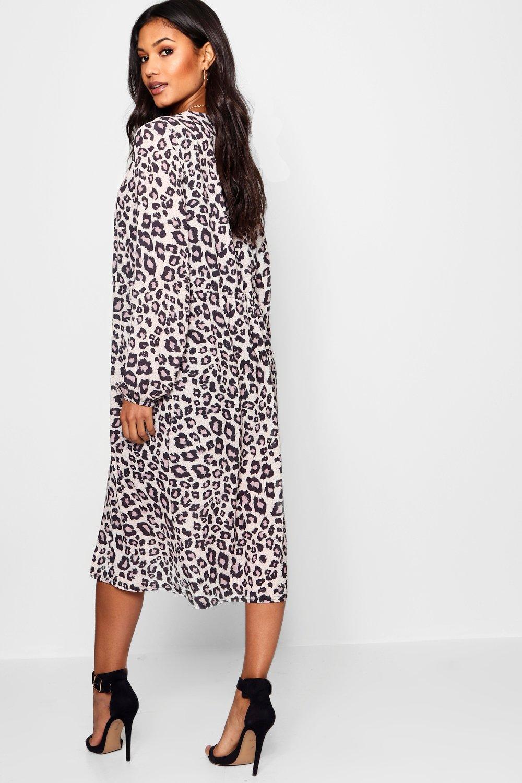 estampado leopardo marrón con Kimono de Uq7T5CCw