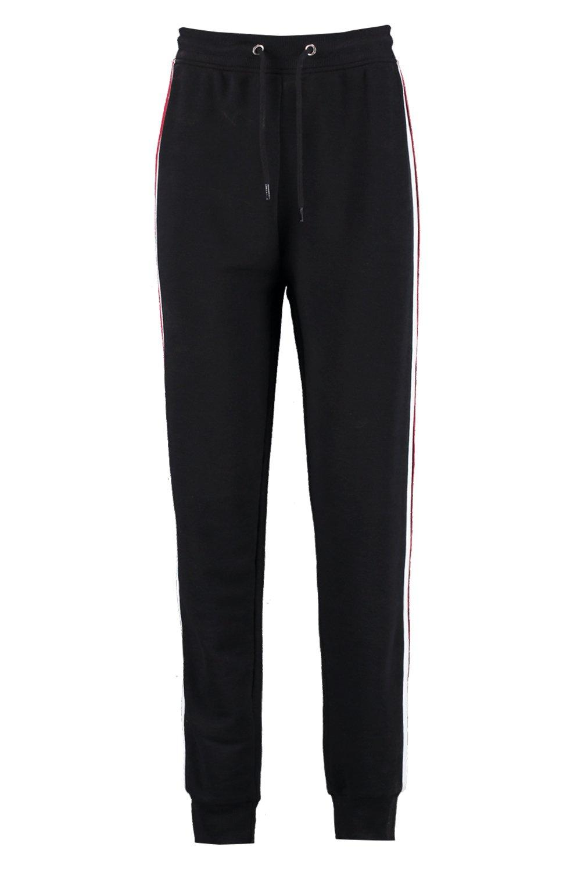 rayas Pantalones estilo correr lateral suéter a de negro wXXgpqZPr