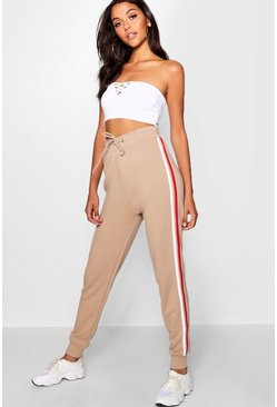 Womens Sand Sports Stripe Sweat Jogger