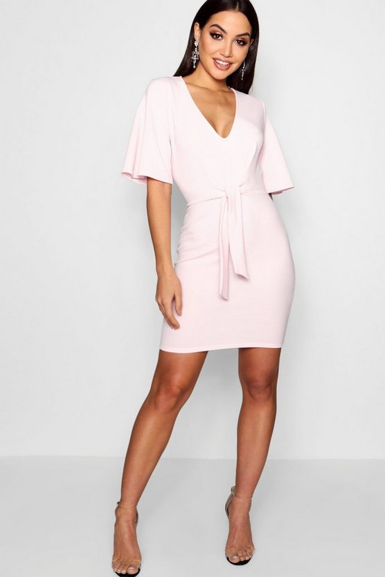 Emily Tie Front Bodycon Dress