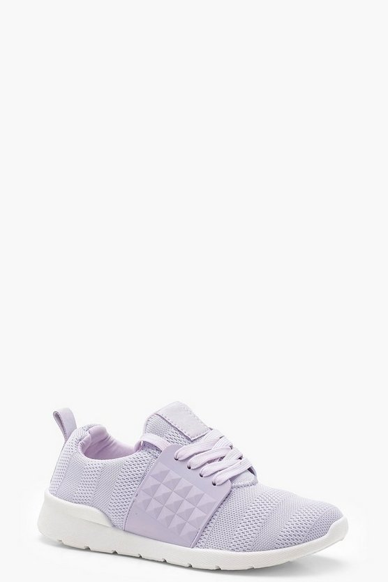 Knitted Lace Up Trainers