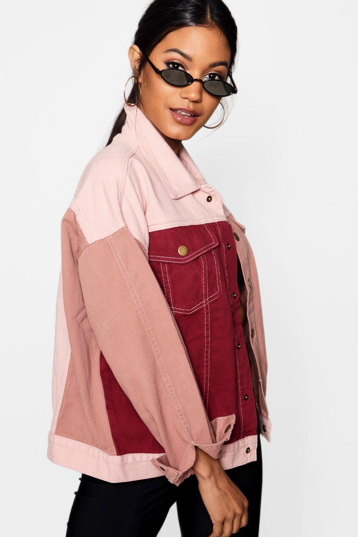 Denim Pink Block Jacket Colour pink pnOzZwRxq