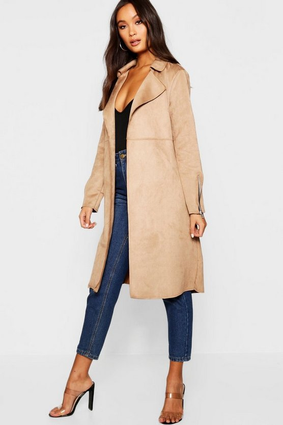 Anna Suedette Trench Coat