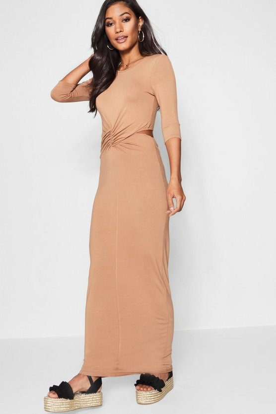 Twist Knot Front Maxi Dress