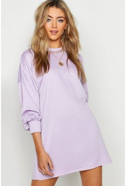 Womens Lilac The Perfect Oversized Sweat Dress