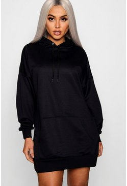 The Perfect Oversized Sweatshirt-Kleid mit Kapuze, Black, Damen