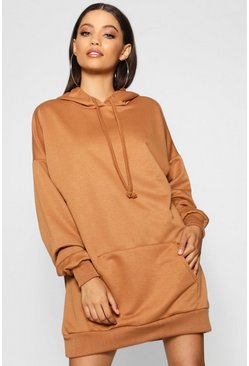 Camel The Perfect Oversized Hooded Sweat Dress