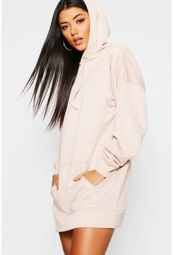 Ecru The Perfect Oversized Hooded Sweat Dress