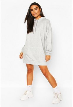 Grey marl The Perfect Oversized Hooded Sweat Dress