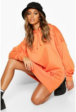 Orange The Perfect Oversized Hooded Sweat Dress