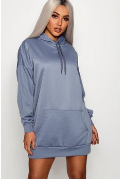 Womens Petrol The Perfect Oversized Hooded Sweat Dress