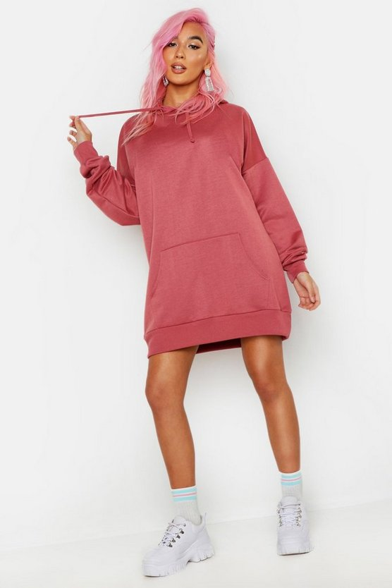 Womens Rose The Perfect Oversized Hooded Sweat Dress